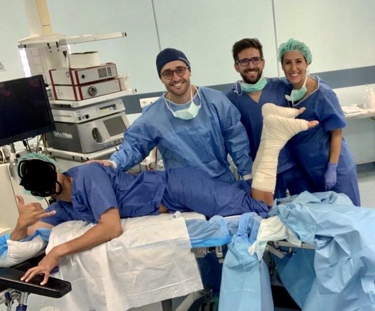 Cirugía ecoguiada tendón de aquiles